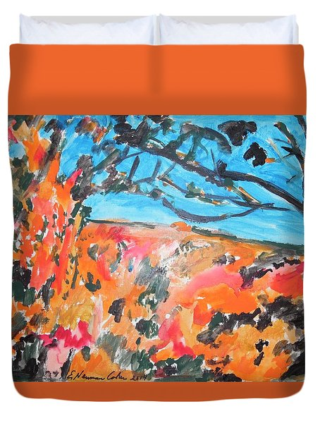 Autumn Flames Duvet Cover