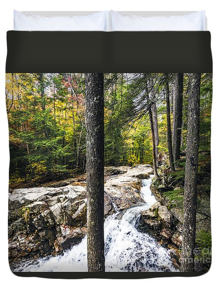 Duvet Cover featuring the photograph Autumn Flows by Anthony Baatz
