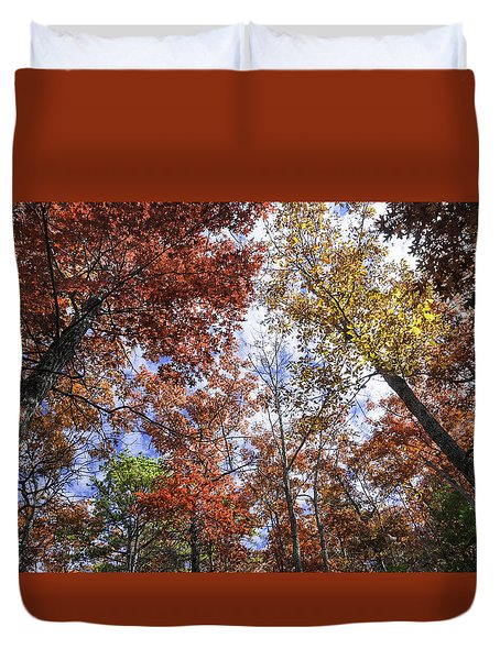 Autumn Forest Canopy Duvet Cover by Lynn Bauer