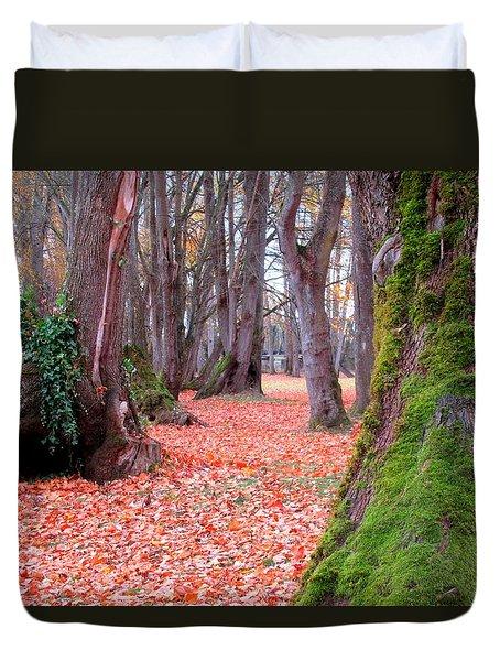 Autumn Forest Floor Duvet Cover