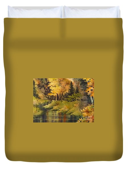Autumn Forest II Duvet Cover by Teresa Ascone
