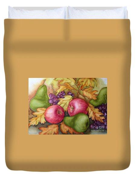 Autumn Fruit Still Life Duvet Cover