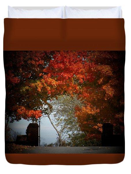 Autumn Gate Duvet Cover by Joyce Kimble Smith