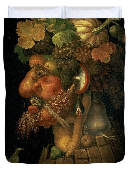 Autumn Duvet Cover by Giuseppe Arcimboldo