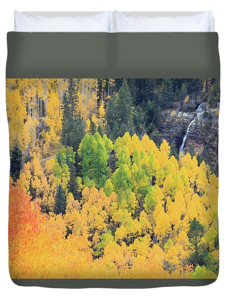 Duvet Cover featuring the photograph Autumn Glory by David Chandler