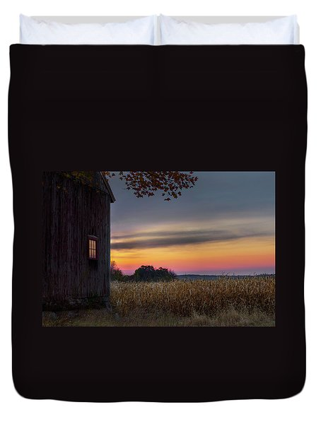 Duvet Cover featuring the photograph Autumn Glow by Bill Wakeley