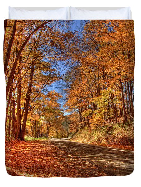 Autumn Glow Duvet Cover by Dale R Carlson