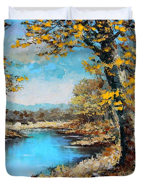 Autumn Gold Duvet Cover by Karon Melillo DeVega