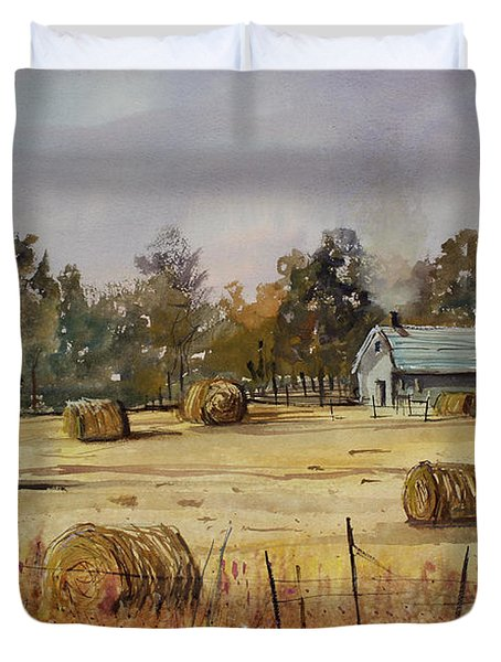 Autumn Gold Duvet Cover by Ryan Radke