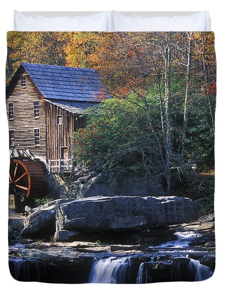 Autumn Grist Mill - Fs000141 Duvet Cover by Daniel Dempster