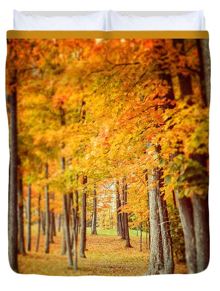 Autumn Grove  Duvet Cover by Lisa Russo