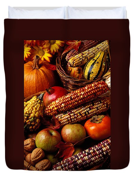 Autumn Harvest  Duvet Cover by Garry Gay
