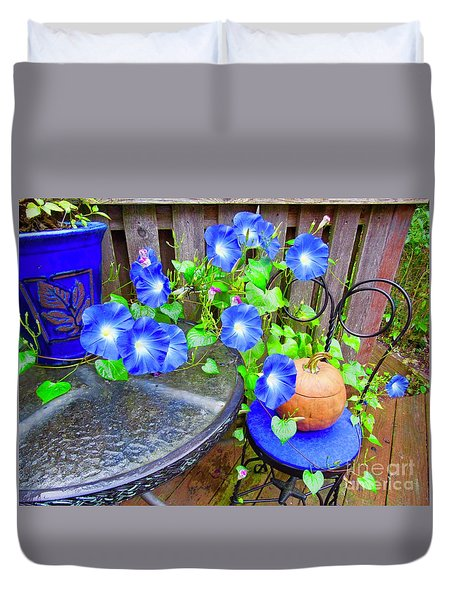 Autumn Heavenly Blues  Duvet Cover