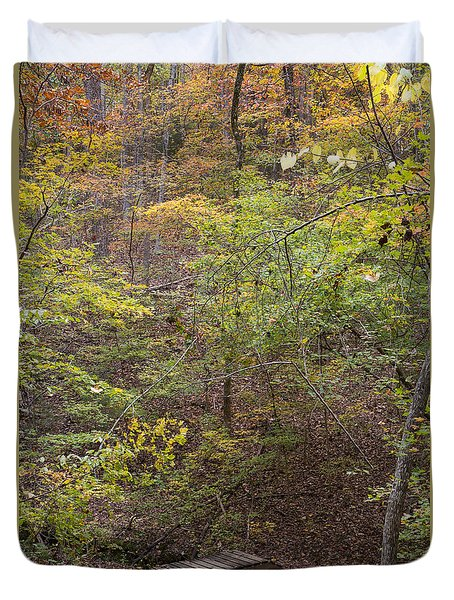 Autumn Hike Duvet Cover by Kevin McCarthy