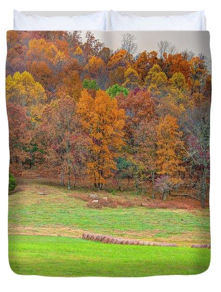 Autumn Hillside Duvet Cover