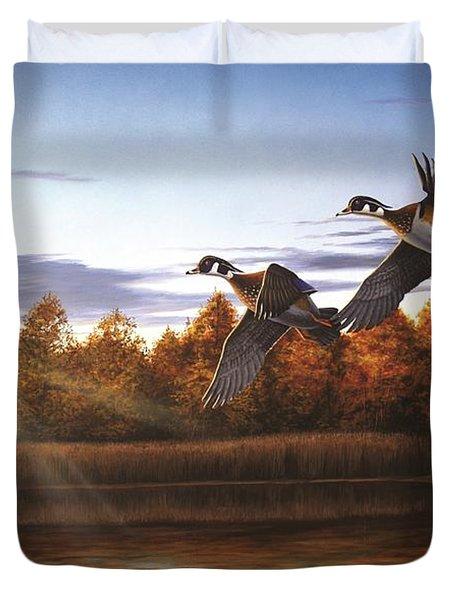 Autumn Home - Wood Ducks Duvet Cover