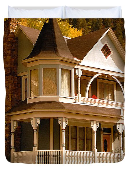 Autumn House Duvet Cover by David Lee Thompson