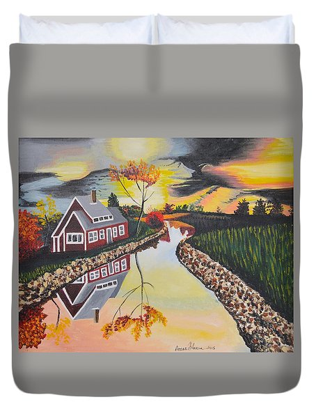 Autumn Illusion Duvet Cover