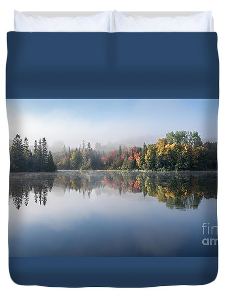 Duvet Cover featuring the photograph Autumn Impression by Jola Martysz