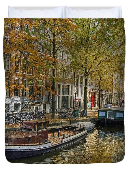 Autumn In Amsterdam Duvet Cover