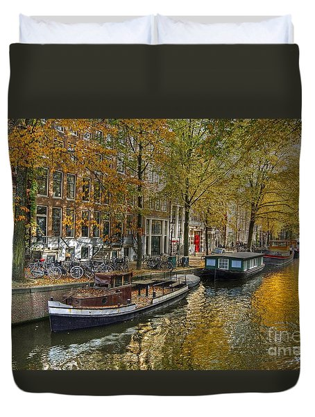 Autumn In Amsterdam Duvet Cover