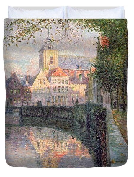 Autumn In Bruges Duvet Cover by Omer Coppens