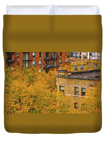Autumn In Chicago Duvet Cover