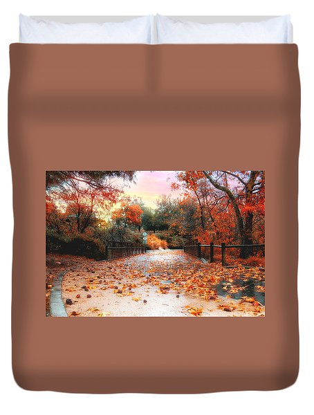 Autumn In Discovery Lake Duvet Cover