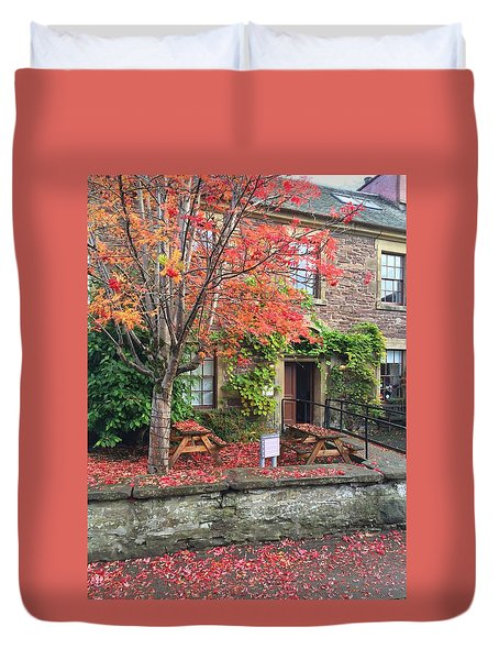 Autumn In Dunblane Duvet Cover