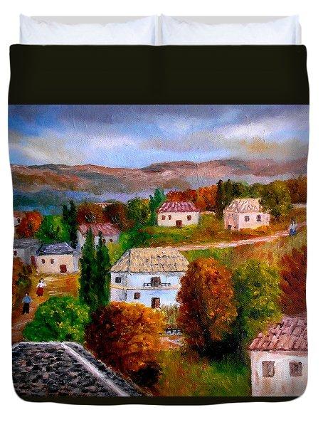 Autumn In Greece Duvet Cover