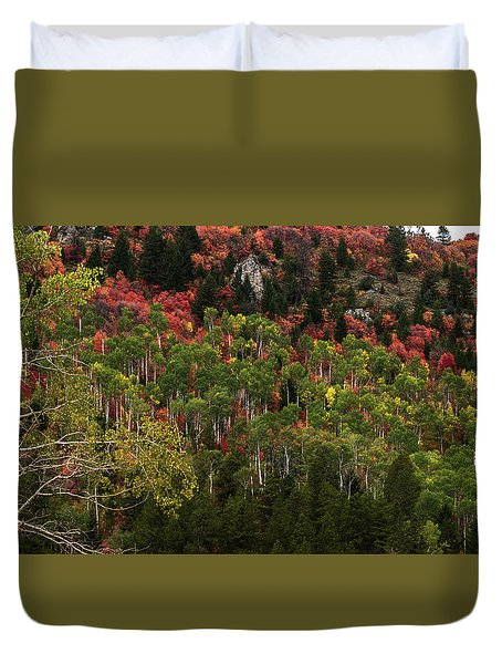 Autumn In Idaho Duvet Cover by Yeates Photography