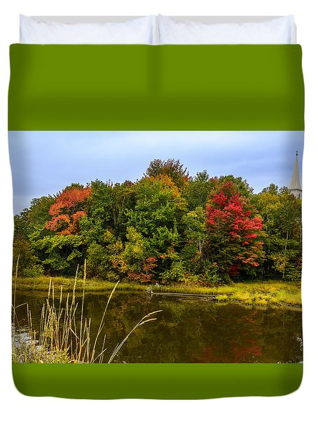 Autumn In Mabou Duvet Cover
