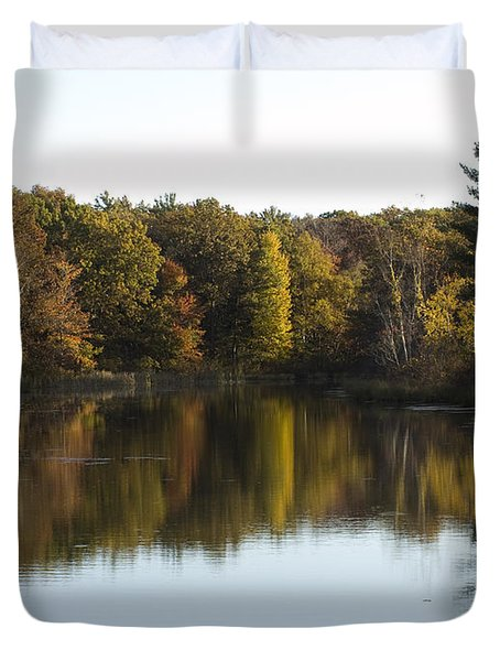 Autumn In Mears Michigan Duvet Cover