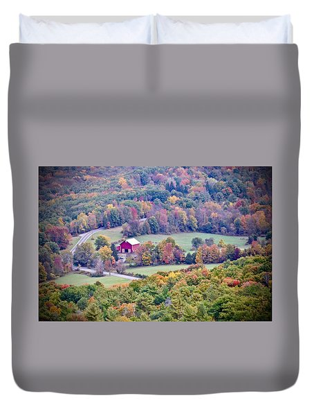 Autumn View, Mohonk Preserve Duvet Cover
