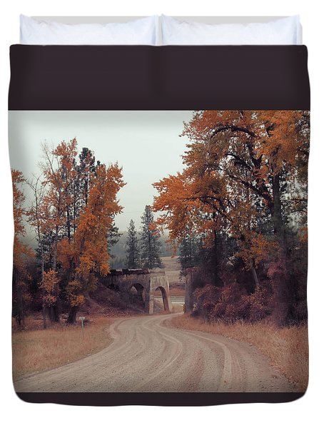 Autumn In Montana Duvet Cover by Cathy Anderson