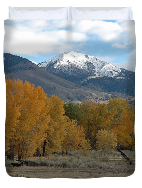 Autumn In Montana's Madison Valley Duvet Cover