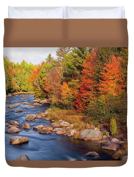 Autumn In New Hampshire Duvet Cover