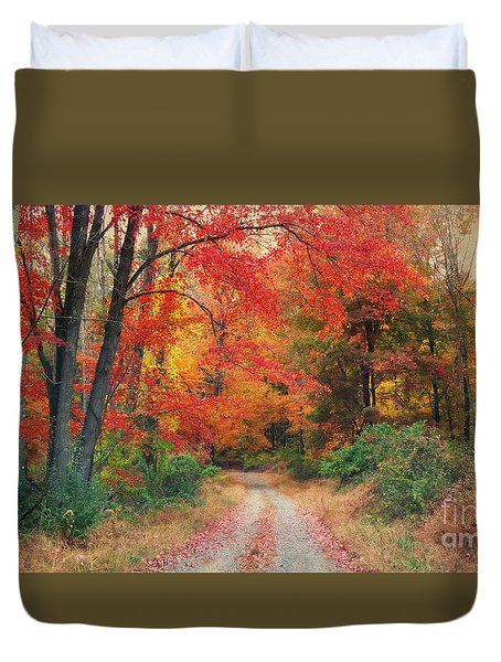 Autumn In New Jersey Duvet Cover