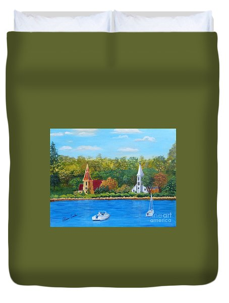 Autumn In Nova Scotia Duvet Cover