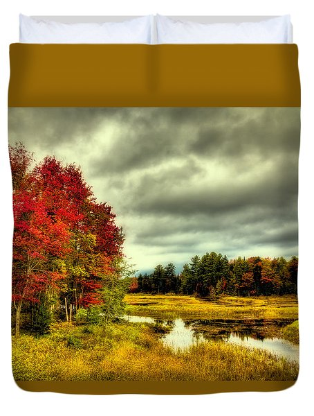 Autumn In Old Forge Duvet Cover by David Patterson