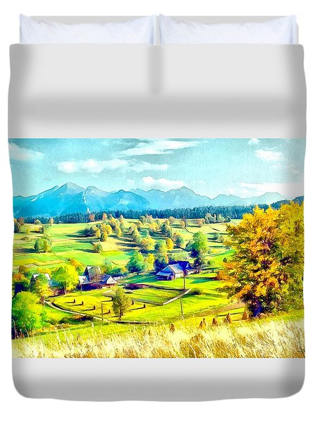 Autumn In Poland Duvet Cover