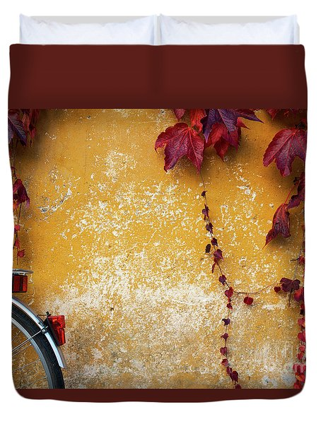 Autumn In Red Duvet Cover by Yuri Santin