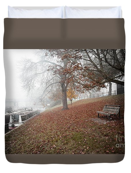Autumn In River Cam Duvet Cover