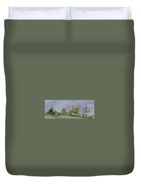 Autumn In Rural Ohio Duvet Cover by Mary Haley-Rocks