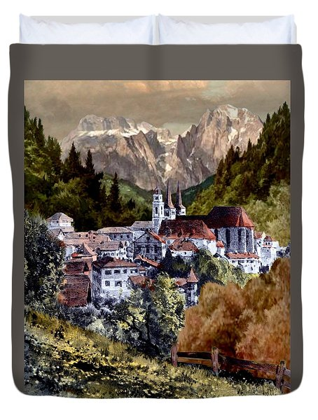 Autumn In The Alps Duvet Cover