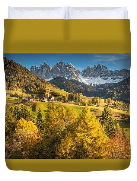 Autumn In The Alps Duvet Cover