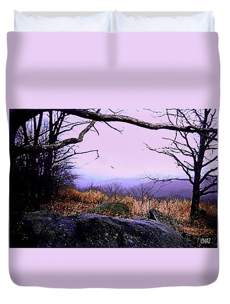 Autumn In The Blue Ridge Mountains Of Virginia Duvet Cover