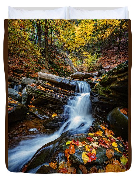 Autumn In The Catskills Duvet Cover