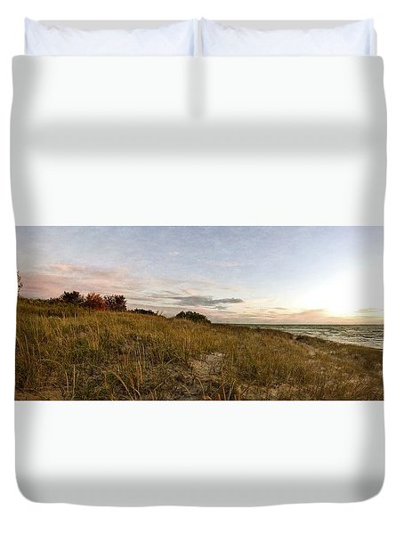 Duvet Cover featuring the photograph Autumn In The Dunes by Michelle Calkins
