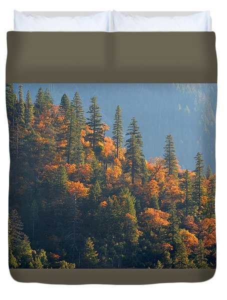 Autumn In The Feather River Canyon Duvet Cover